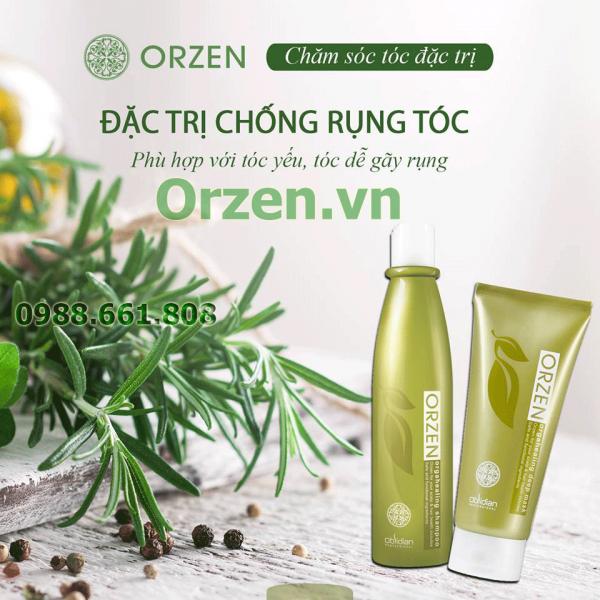 bộ dầu gội chống rụng tóc orzen chiết xuất 100% từ thiên nhiên