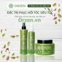 Bộ sản phẩm phục hồi tóc siêu tốc orzen cmc hàn quốc chiết xuất 100% từ thiên nhiên