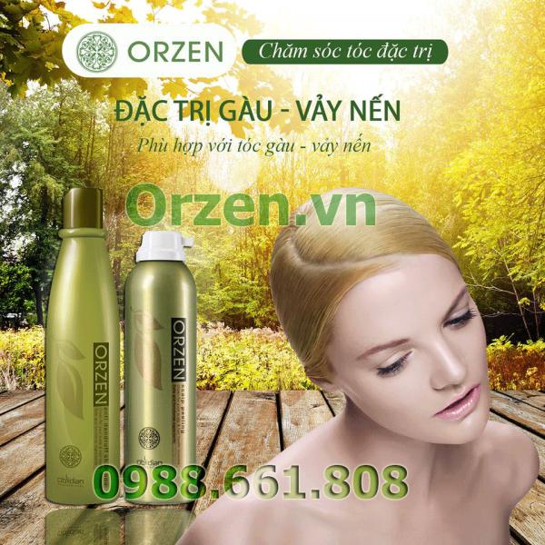 Bộ dầu gội đặc trị gàu vảy nến orzen từ hàn quốc được chiết xuất 100% từ thiên nhiên